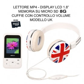LETTORE MP4 8GB CON CUFFIE