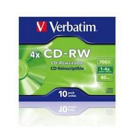 CD MASTERIZZABILE CD-RW 80MINUTI 700MB 4X