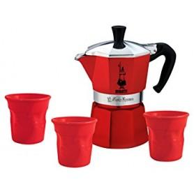 CAFFETTIERA 3 TAZZE MOKA EXPRESS RED PASSION SET