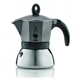 CAFFETTIERA INDUZIONE 3 TAZZE MOKA ANTRACITE