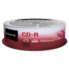 CD MASTERIZZABILE CD-R 80MINUTI 700MB 1X-48X 25PZ