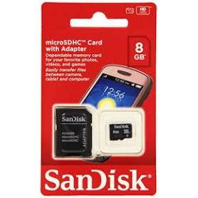 MEMORY MICRO SD DA 8GB HC CLASSE 4 CON ADATTATORE