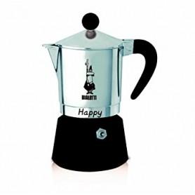 CAFFETTIERA 3 TAZZE MOKA HAPPY NERA