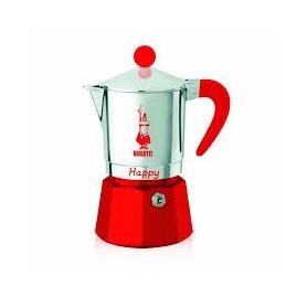 CAFFETTIERA 3 TAZZE MOKA HAPPY ROSSA