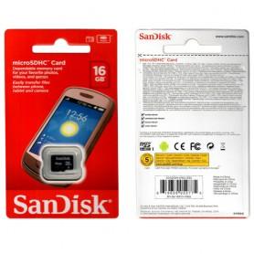 MEMORY MICROSDHC DA 16GB CLASSE 4