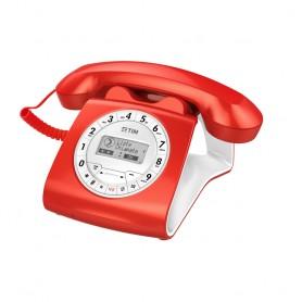 TELEFONO FISSO SIRIO CLASSICO COLOR RED