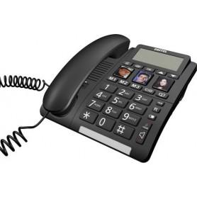 TELEFONO FISSO CON TELECOMANDO SOS AMPIO DISPLAY