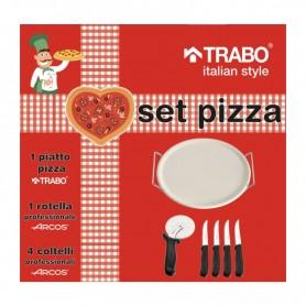 SET PIZZA + ROTELLA + 4 COLTELLI