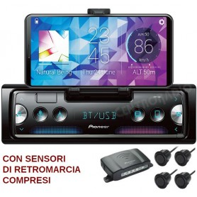 AUTORADIO MP3 BLUETOOTH + KIT SENSORI RETROMARCIA