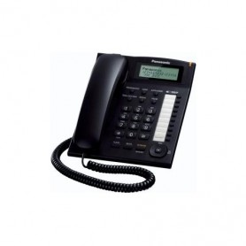 TELEFONO FISSO RUBRICA 50 NOM VIVAVOCE BLACK