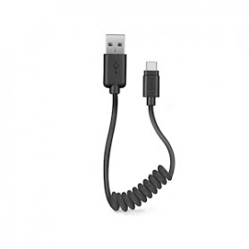 CAVO DATI USB 2.0 A TYPE-C 0,5MT BLACK