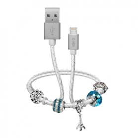 CAVO DATI USB 2.0 A LIGHTNING CON PENDENTI BIANCO