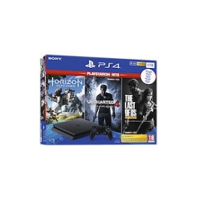 CONSOLE PS4 1TB+HORIZON+INCHARTED4+THE LAST OF