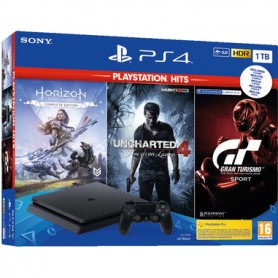 CONSOLE PS4 1TB HORIZON+UNCHARTED4+GP
