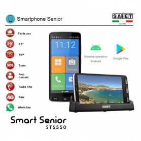 SAIET SMART SENIOR 16GB 4G COLOR BLACK