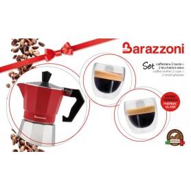 CAFFETTIERA CON 2 TAZZE E BICCHIERI