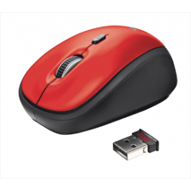 MOUSE OTTICO WIRELESS 1600DPI 2,4GHZ RED
