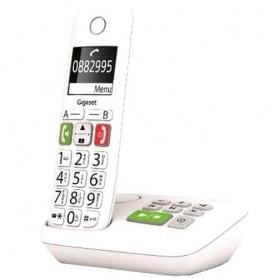 TELEFONO CORDLESS CON VOLUME E AUDIO ALTI BIANCO