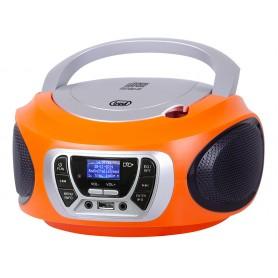 LETTORE CD PORTATILE FM RADIO DAB ARANCIONE
