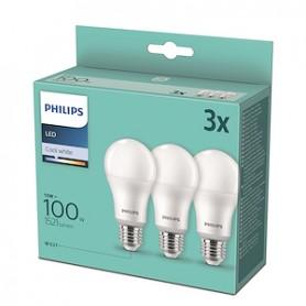 LAMPADA A LED 14W E27 BIANCO FREDDO 3 PEZZI