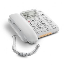 TELEFONO FISSO CON RUBRICA TELEFONICA BIANCO