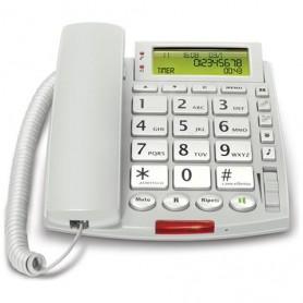 TELEFONO FISSO BIG GRIGIO CHIARO